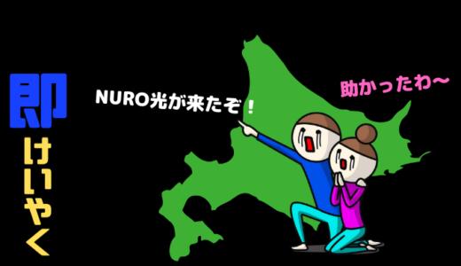 NURO光 北海道 契約してみた